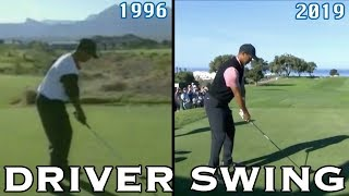TIGER WOODS DRIVER SWING COMPARISON (1996-2019)