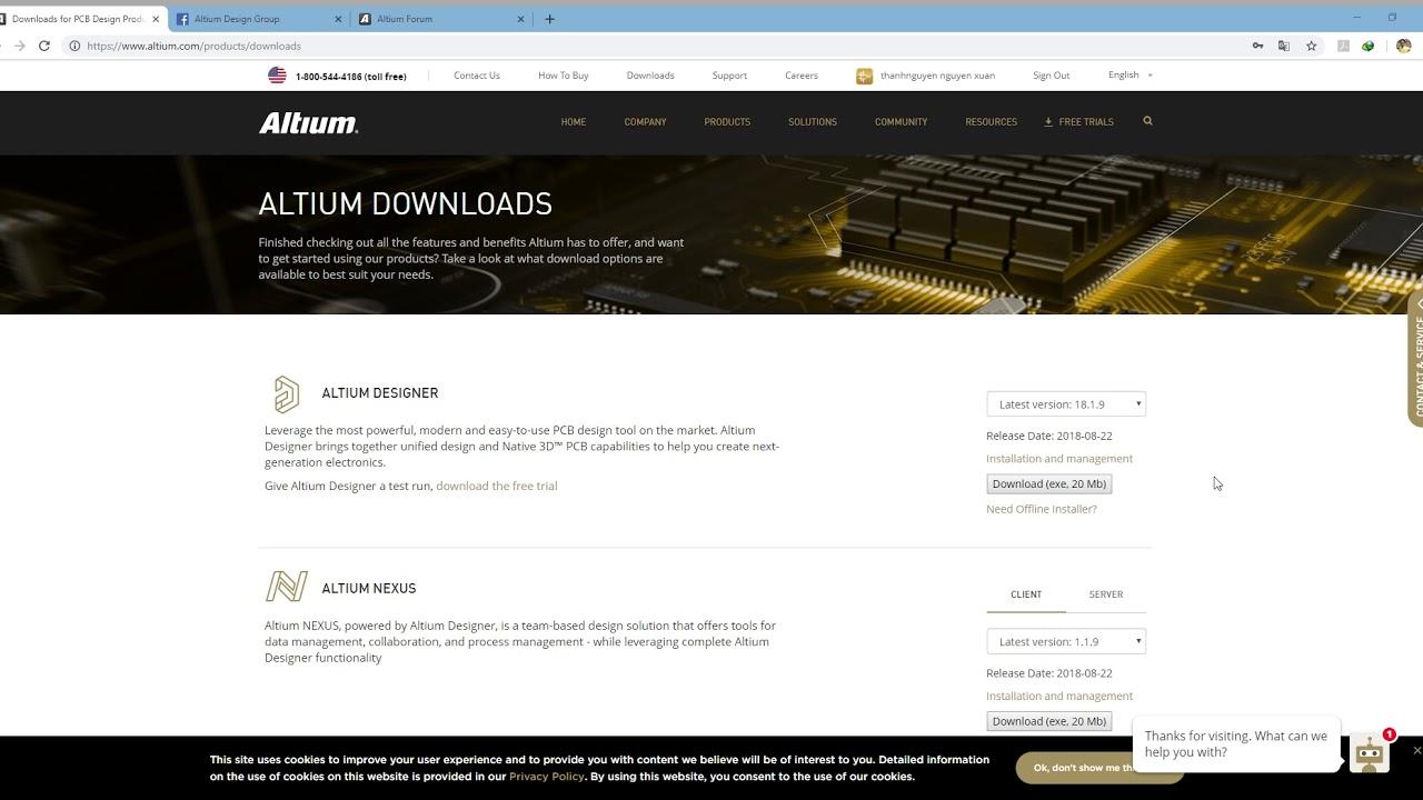 Download Altium Designer 18 1 9 From Altium com смотреть