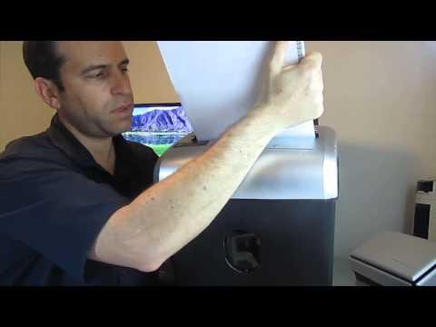 AmazonBasics 12 Sheet Cross Cut Shredder Open Box and Review