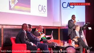 Reserve Bank of Zimbabwe Dr Mlambo presentation at Zimdaba 2018