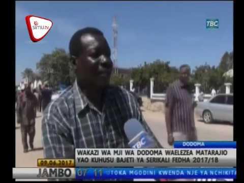 Wananchi Dodoma Wafurahia Bajeti 2018 2017