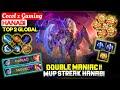 DOUBLE MANIAC !! MVP Streak Hanabi [ Top 2 Global Hanabi ] Cocol x Gaming - Mobile Legends