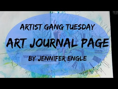 Art Journal Page for Donna Downey's Artist Gang Tuesday