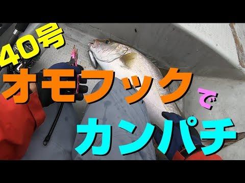 Okinawa Fishing オモフックオモックでカンパチx2沖縄