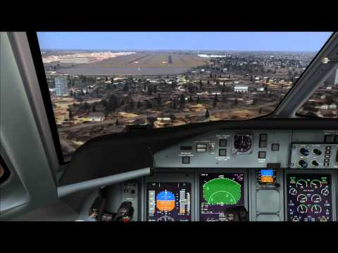 FSX: Majestic Dash-8 Landing At KATL
