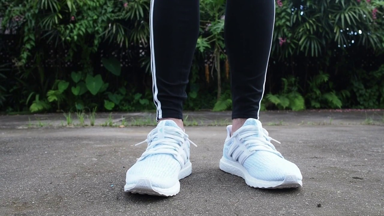 7623cd3d8b6af3 UltraBoost Parley 3.0 Icy Blue on Feet - YouTube