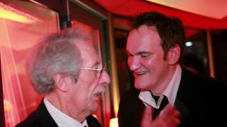 Quentin Tarantino et Jean Rochefort après un dîner bien arrosé