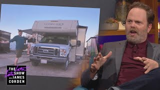 Rainn Wilson's RV Trip Ended with a Broken Toilet & Bumper