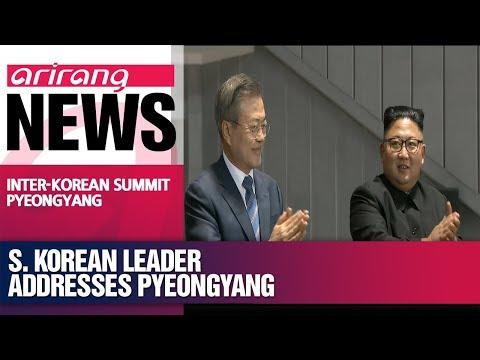 President Moon Jae-in speaks to N. Korean audience of 150,000