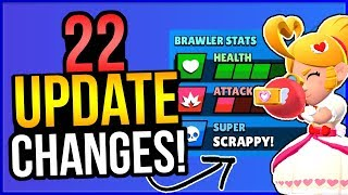 FREE SKINS GIVEAWAY + 22 NEW CHANGES IN THE UPDATE (Brawl Stars)