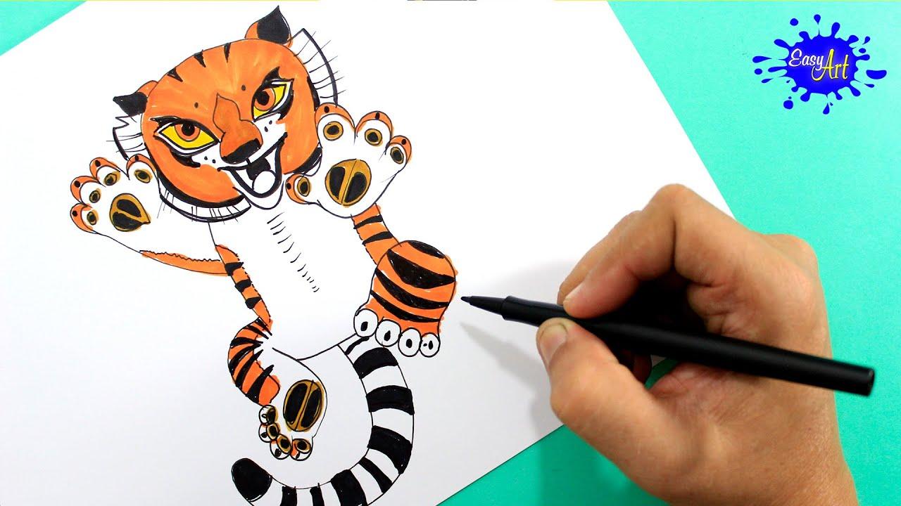 How To Paint Tigress Kung Fu Panda 3 Como Pintar A Tigresa
