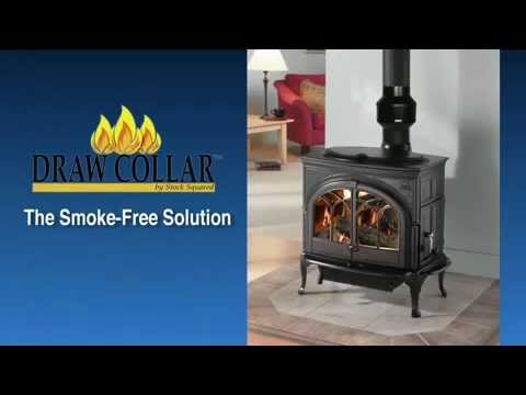 Draw Collar Improves Wood Stove Chimney Youtube