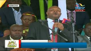 Governor Paul Chepkwony's full speech at the youth pass out in Kericho County