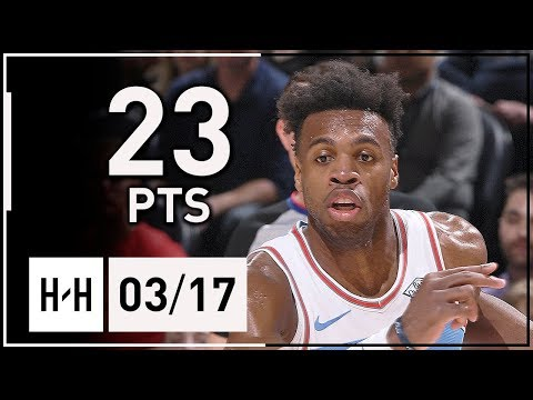 Buddy Hield Full Highlights Kings vs Jazz (2018.03.17) - 23 Points, 6 Assists