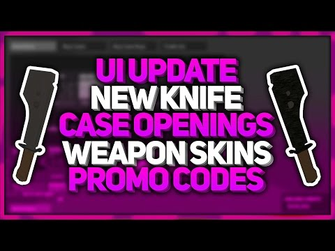UI UPDATE, NEW KNIFE, CASES, WEAPON SKINS & PROMO CODES ...