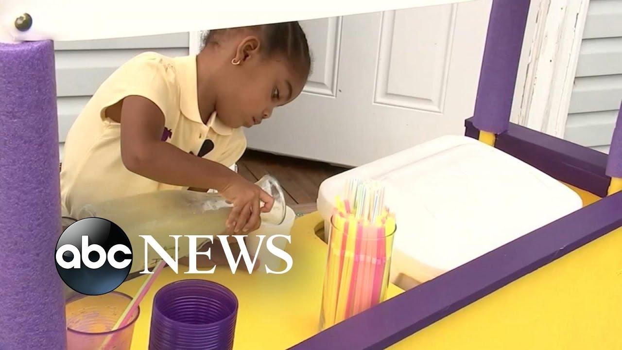 ABC News:3-year-old girl in North Carolina sells lemonade to help babies in need