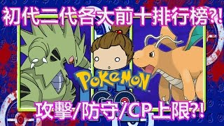 Pokémon GO一.二代寶可夢在第四代進化CP值排行榜(前12強)牠?令人太驚艷了