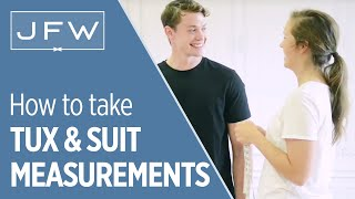Measurements for Tuxedo and Suit Rentals