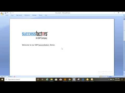 Download SAP Successfactors Online Training/Workshop/Course Free Demo Class Introduction