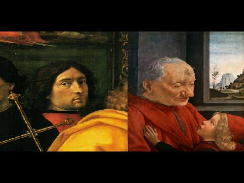 Video mostra Domenico Ghirlandaio  opere  realizzate  dal  maestro dal  1470 al 1492 Rinascimento