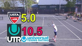 UTR 10.5 - NTRP 5.0 Tennis Highlights - Andrew vs Cary #2