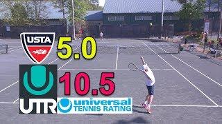 UTR 10.5 - NTRP 5.0 Tennis Highlights - Andrew vs Cary #2