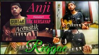 Gambar cover Anji( BIDADARI TAK BERSAYAP ) guitar acoustik reggae cover.