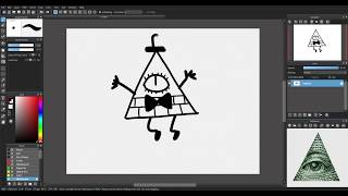 How To Draw Bill Cipher