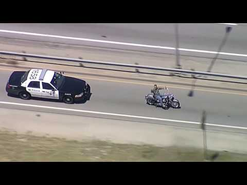 Motorcycle Police Chase Fort Worth, TX
