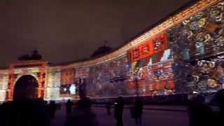 Открытие празднования Нового года 2015 в Санкт-Петербурге. Световое шоу