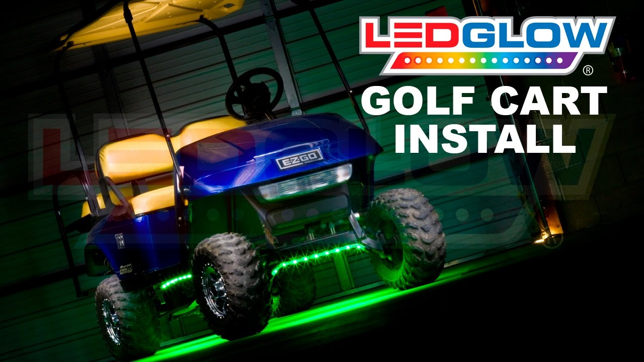Ez Go Rxv Electric Wiring Diagram Mallory Distributor Ledglow How To Install Golf Cart Led Lights Youtube