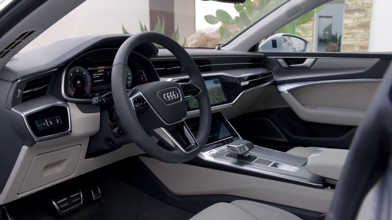 audi a7 sportback interior design in grey youtube. Black Bedroom Furniture Sets. Home Design Ideas