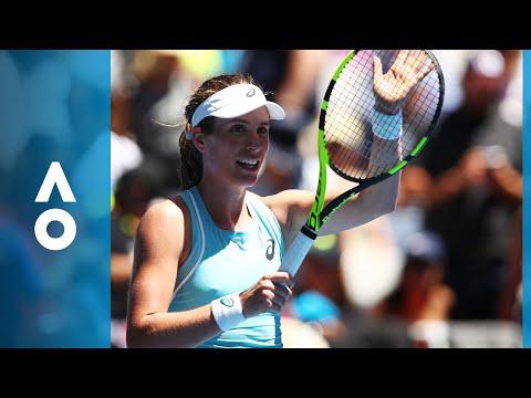 Johanna Konta v Madison Brengle match highlights 1R  Australian Open 2018
