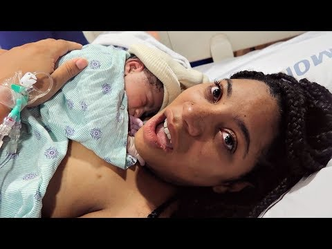 Our Emotional Birth Vlog No Epidural  - Baby Riley Born In Her Sac