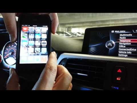 How to bluetooth iphone to BMW idrive system - 2013 model year & newer