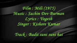 Badi Suni Suni Hai - Mili - Full Karaoke
