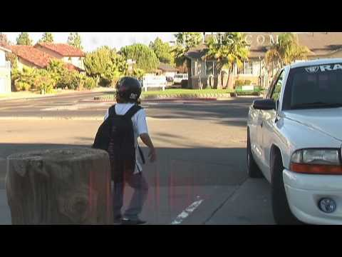 Skit of Skater Kid on his way to school