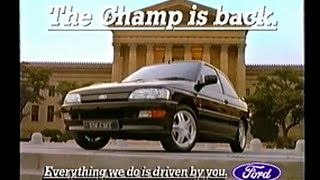 Television car adverts from 1991/92