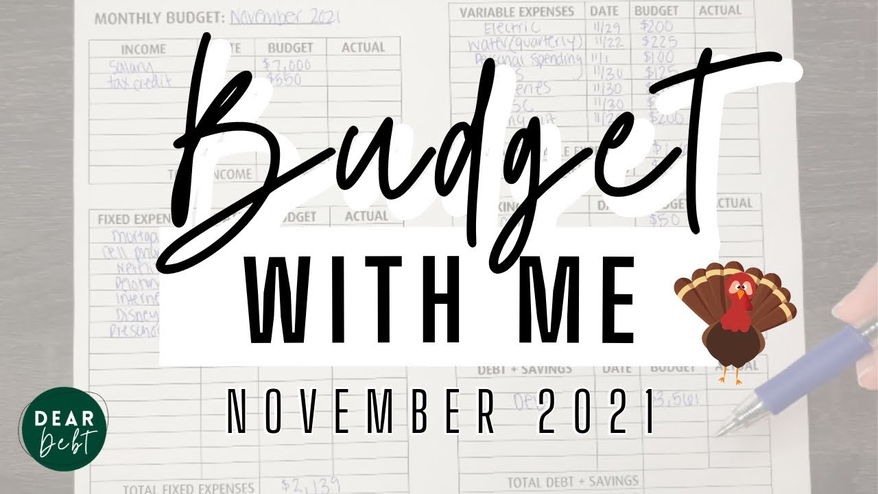 Download NOVEMBER 2021 BUDGET WITH ME! Extra expenses, budgeting for the holidays and sinking fund changes