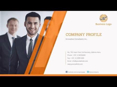 Company Profile PowerPoint Template -  Design A Professional Company Profile Ppt Presentation