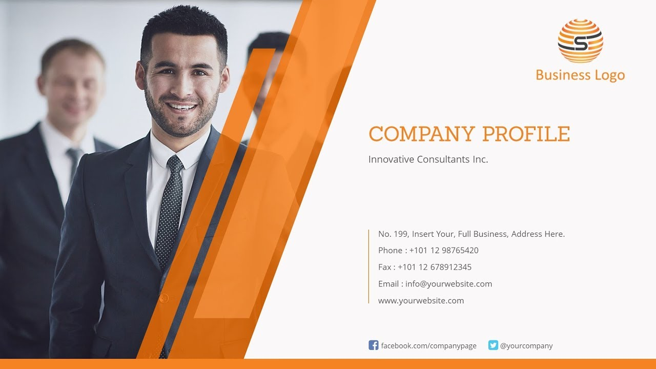 Company Profile Powerpoint Template Design A Professional Company Profile Ppt Presentation Youtube