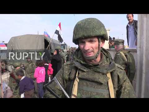 Syria: Russian Military Delivers Humanitarian Aid To Raqqa