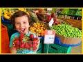 Market Alışverişine Çıktık, Yankı Meyveleri Kendi Seçti | Çocuk Videosu