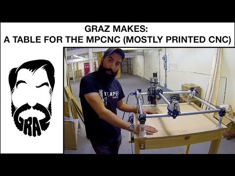 Graz Makes: A Wooden Table for the MPCNC (mostly printed cnc machine)
