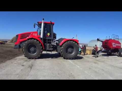 Трактор К 744 р4 зацепили посевной комплекс, ремонт.   К742 сбор нового ПК FEAT AGRO (Сезон 2019)