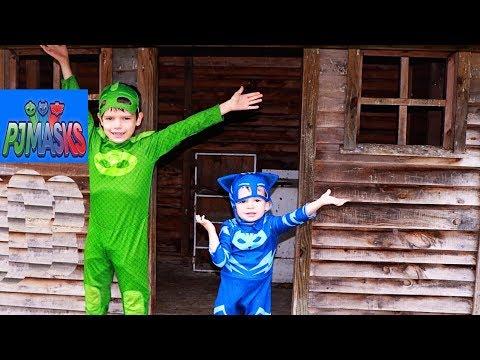 PJ Masks New WOODEN PLAYHOUSE Catboy 3 Little Pigs & Big Wolf Story