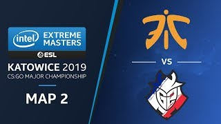 CS:GO - G2 vs fnatic [Dust2] Map 2 Ro4 - Challengers Stage - IEM Katowice 2019