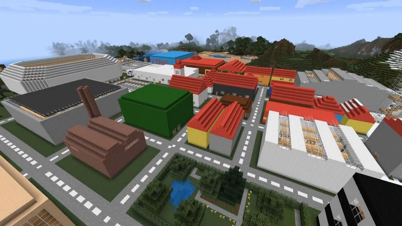 MinecraftStadt Hochhäuser Und Flug über Die Gesamte Map Part - Minecraft hochhauser