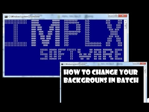 how to make batch change background