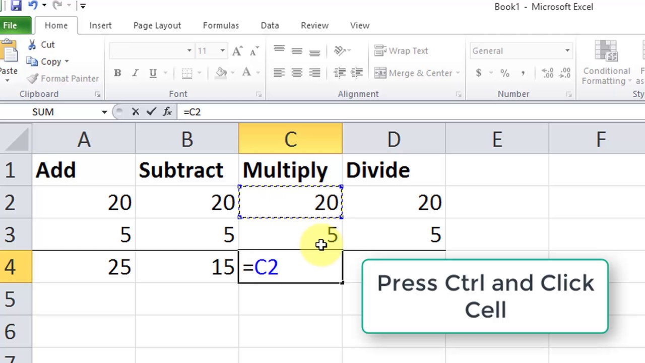 How to multiply in Excel number by number, column by column 75
